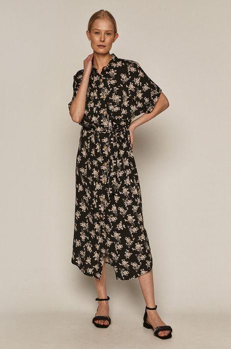 Długa sukienka damska oversize z wiskozy EcoVero czarna