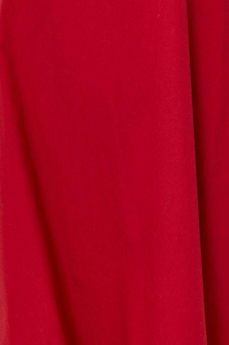 Sukienka damska z wiskozy w kształcie litery A czerwona