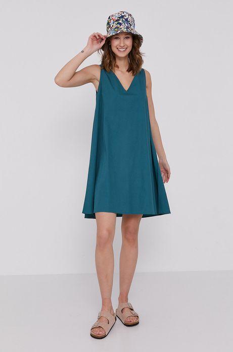 Sukienka damska z wiskozy w kształcie litery A zielona