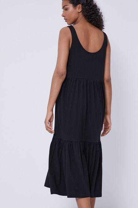 Sukienka damska z bawełny organicznej czarna