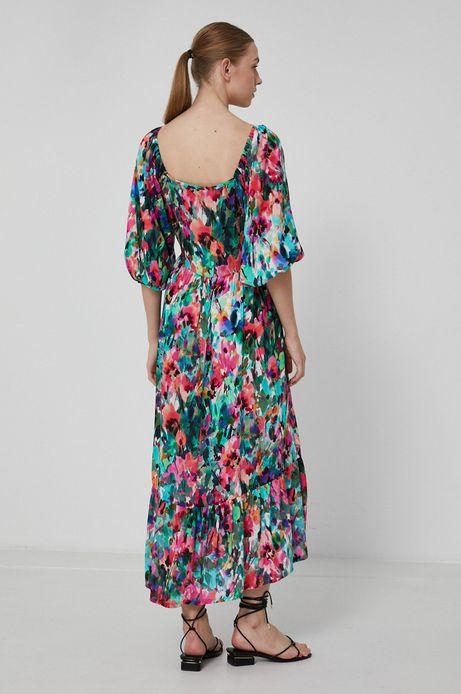 Wzorzysta sukienka damska z wiskozy