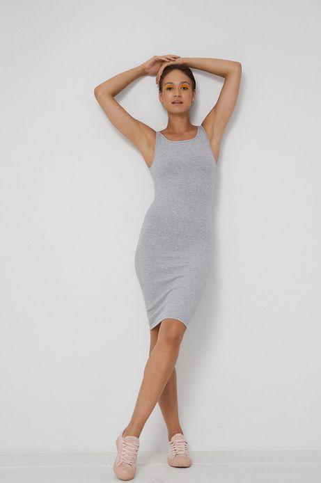 Sukienka damska z bawełny organicznej szara