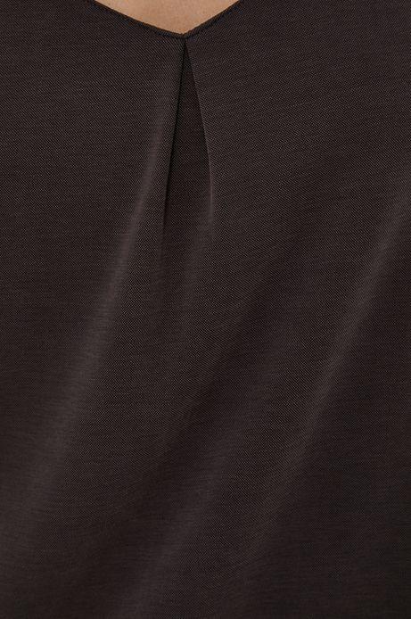 Sukienka damska w kształcie litery A szara