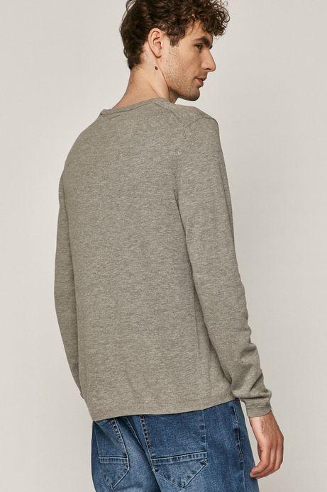 Sweter męski z dekoltem w serek szary