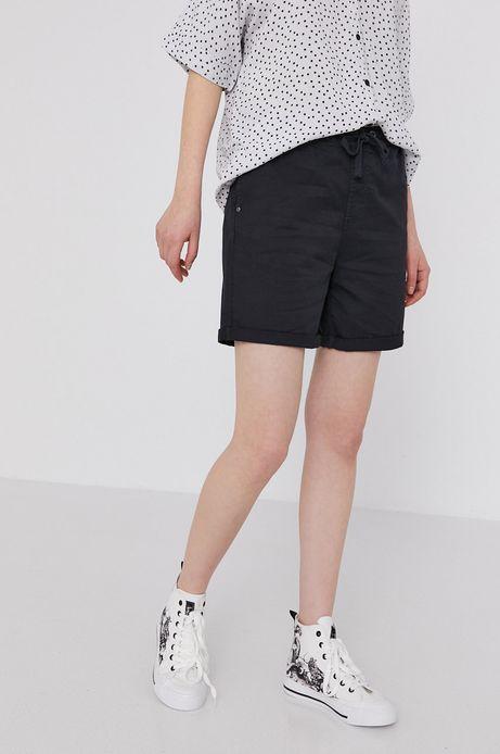 Szorty damskie z wywijanymi nogawkami czarne