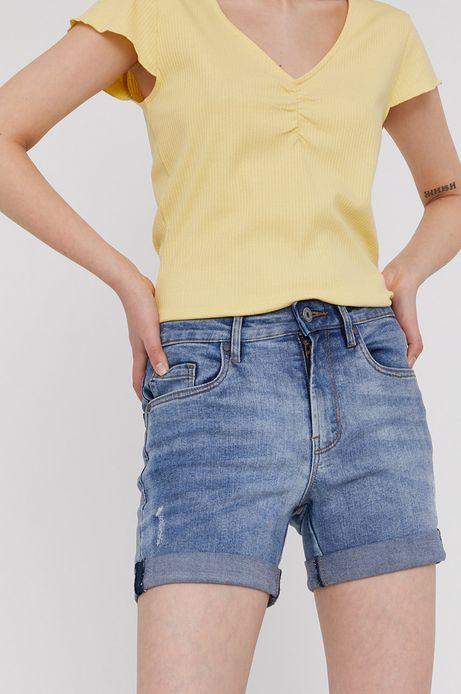 Jeansowe szorty z wywijanymi nogawkami niebieskie