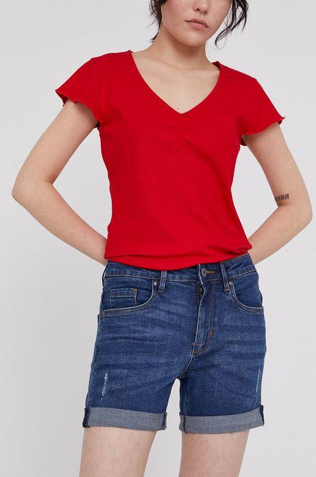 Jeansowe szorty z wywijanymi nogawkami granatowe