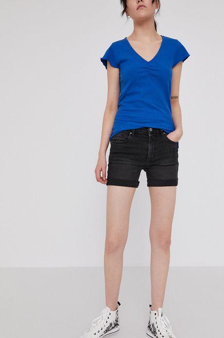 Jeansowe szorty z wywijanymi nogawkami czarne