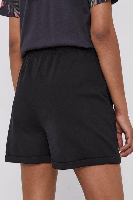 Bawełniane szorty damskie czarne