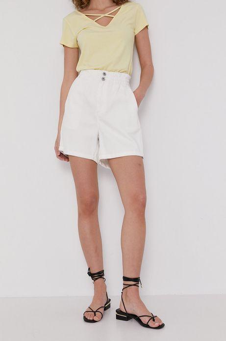 Szorty damskie jeansowe białe
