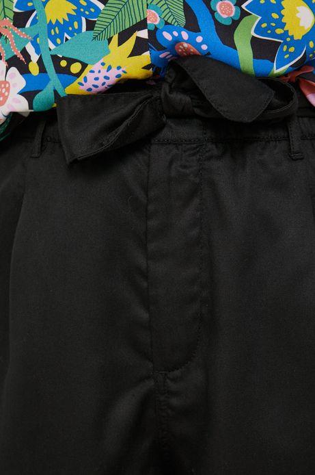 Szorty damskie lyocellu czarne