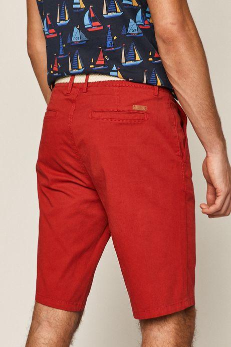 Szorty męskie z paskiem czerwone