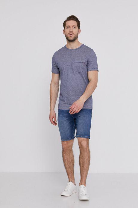 Szorty męskie z bawełny organicznej niebieskie