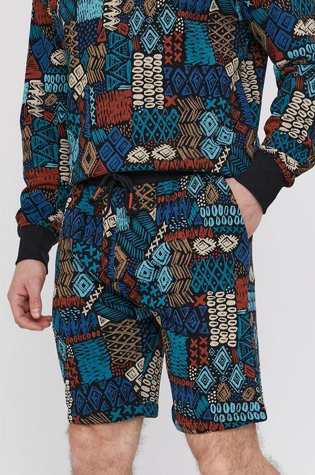 Szorty męskie z bawełnianego wzorzystego materiału