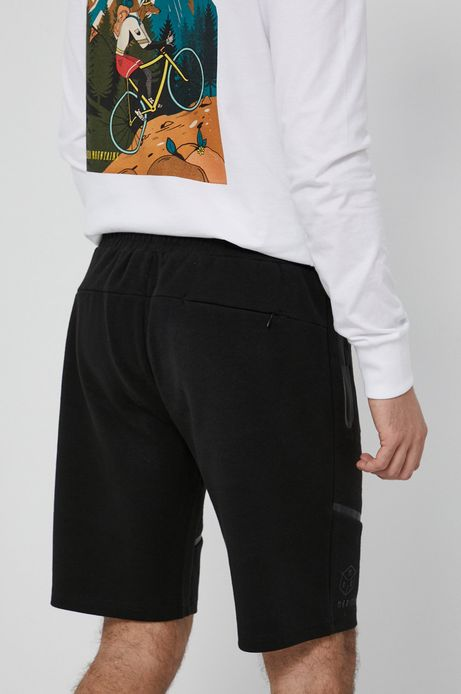 Szorty męskie dresowe czarne