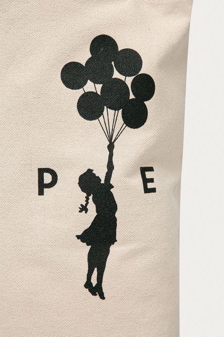 Bawełniana torba Banksy's Graffiti beżowa