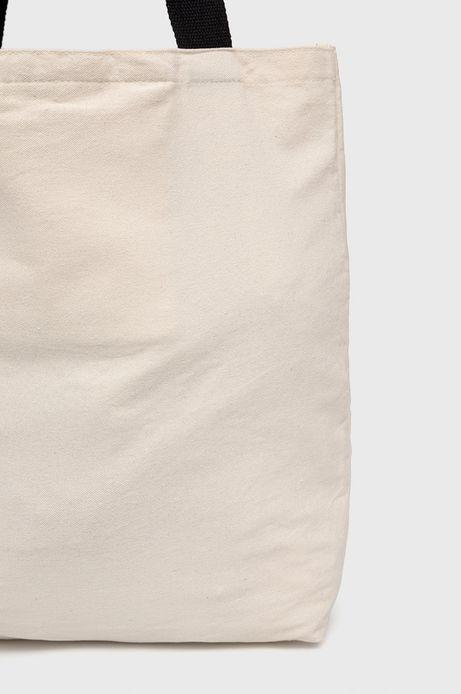 Bawełniana torba z nadrukiem beżowa