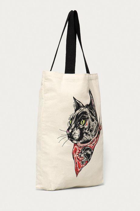 Bawełniana torba by Mojkaink, Tattoo Art beżowa
