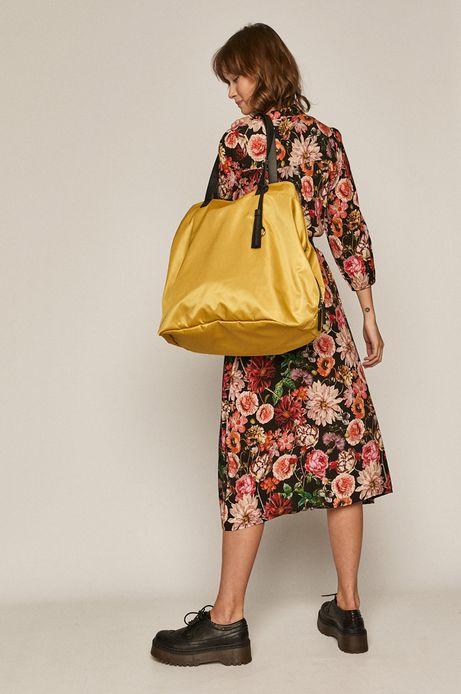 Torebka damska shopper żółta