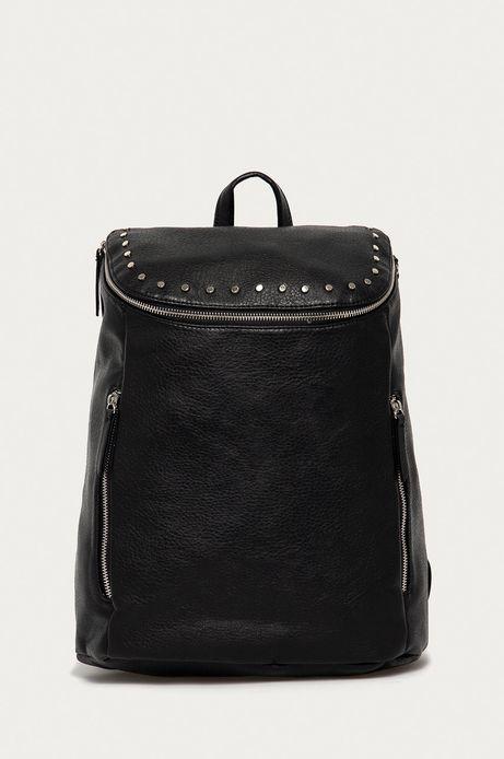 Plecak damski z ozdobnymi detalami czarny