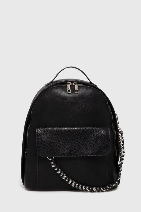 Plecak damski z łańcuszkiem czarny