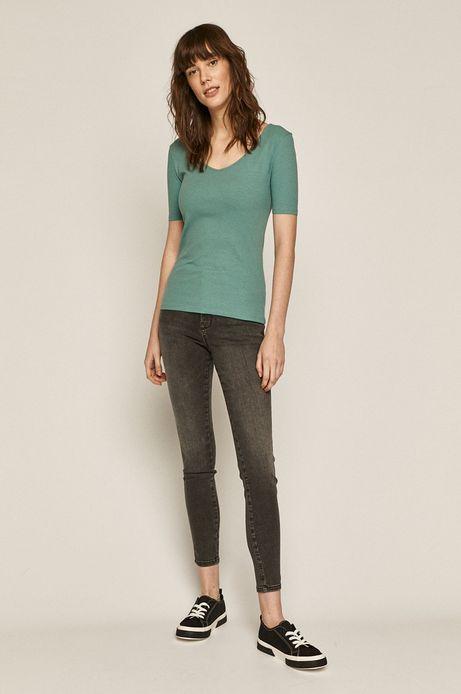 T-shirt damski z bawełną organiczną zielony