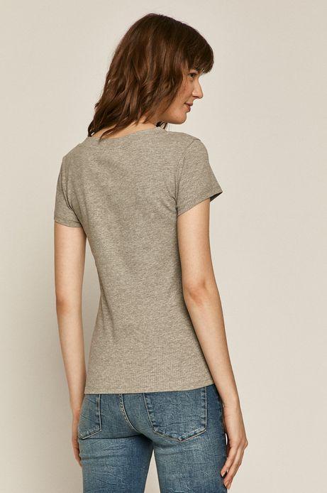 T-shirt damski z bawełną organiczną  szary