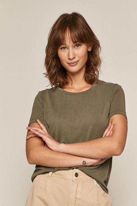 T-shirt damski zielony