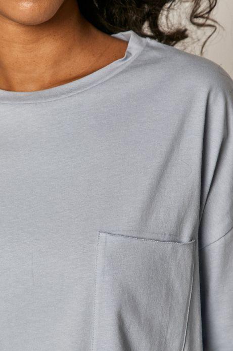 T-shirt damski oversize z bawełny organicznej niebieski