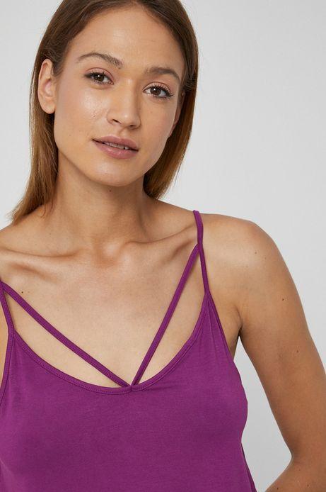 Top damski na ramiączkach fioletowy