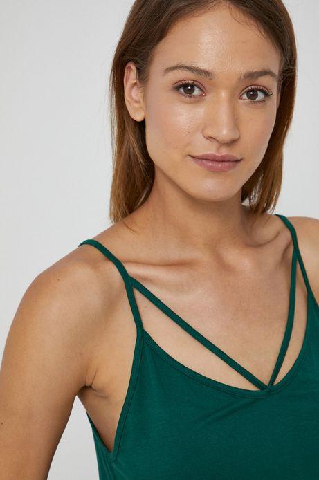 Top damski na ramiączkach zielony