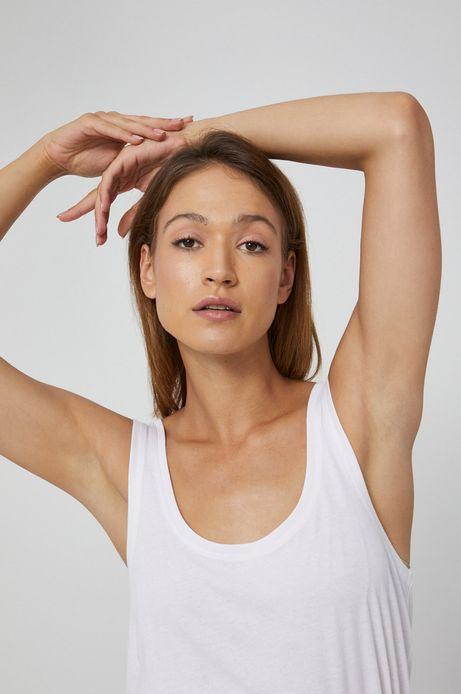 Top damski z bawełny organicznej biały