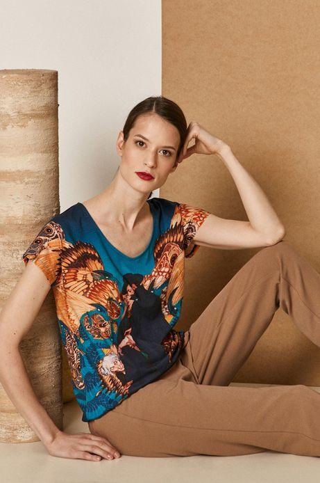 T-shirt damski z kolekcji EVIVA L'ARTE z bawełny organicznej