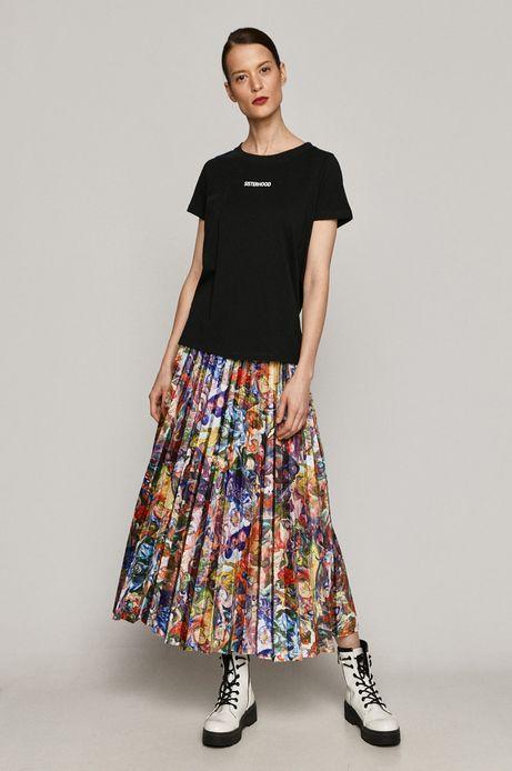 T-shirt damski z kolekcji EVIVA L'ARTE z bawełny organicznej czarny