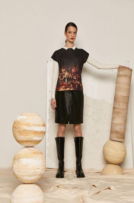 T-shirt damski z kolekcji EVIVA L'ARTE czarny