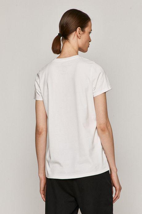 T-shirt damski z bawełny organicznej z nadrukiem CHCĄC NIE CHCĄC biały