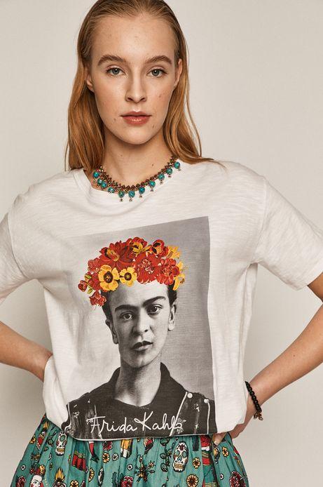 T-shirt damski Frida Kahlo biały