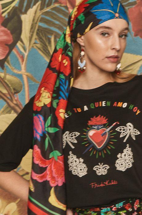 T-shirt damski Frida Kahlo czarny