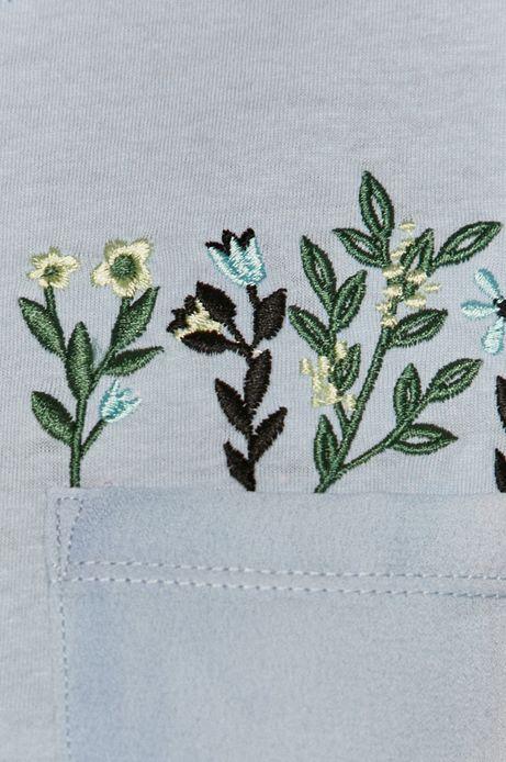 T-shirt damski z bawełny organicznej niebieski