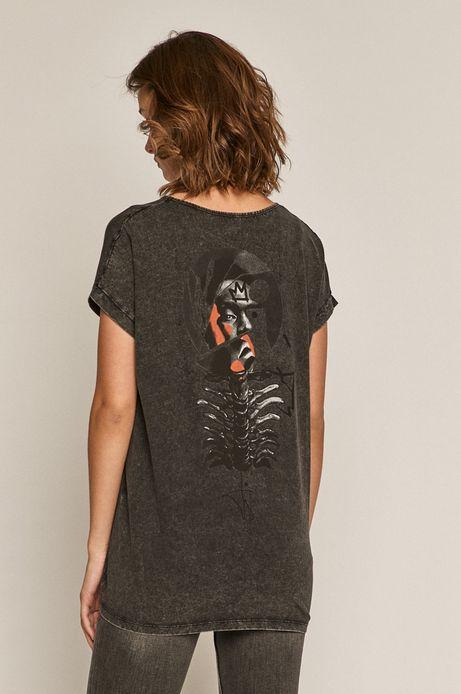 T-shirt damski by Akvarko Tattoo Art szary