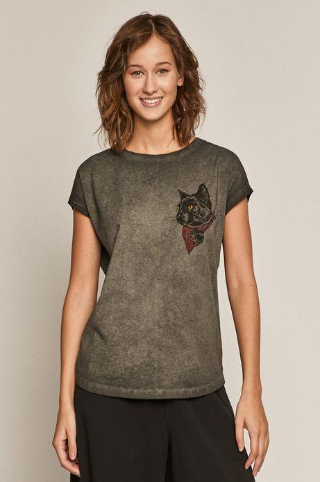 T-shirt damski by Mojkaink, Tattoo Art szary