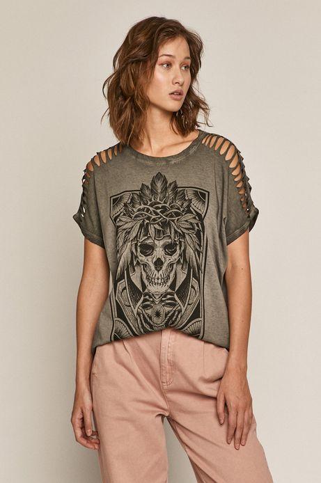 T-shirt by Katarzyna Piątkowska, Tattoo Art szary