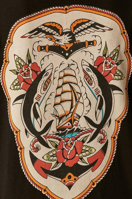 T-shirt damski by Gruby Kruk, Tattoo Art czarny