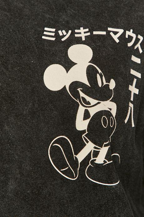 T-shirt damski z nadrukiem Mickey Mouse szary