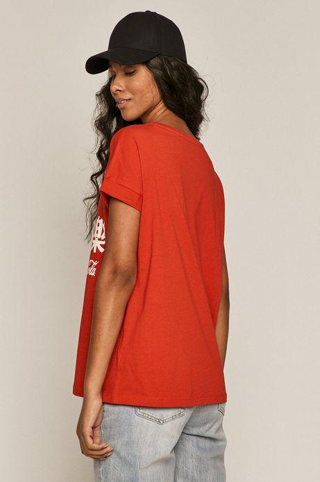 T-shirt damski z nadrukiem Coca-Cola czerwony
