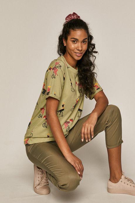 T-shirt damski Projekt: Rower beżowy