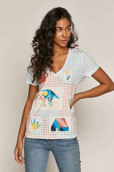 T-shirt damski Projekt: Rower biały