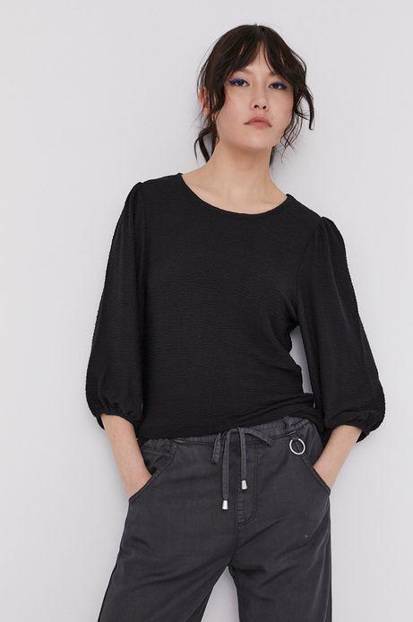 Bluzka damska z fakturą czarna