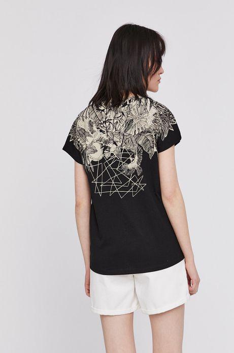 T-shirt damski by Magdalena Parfieniuk czarny