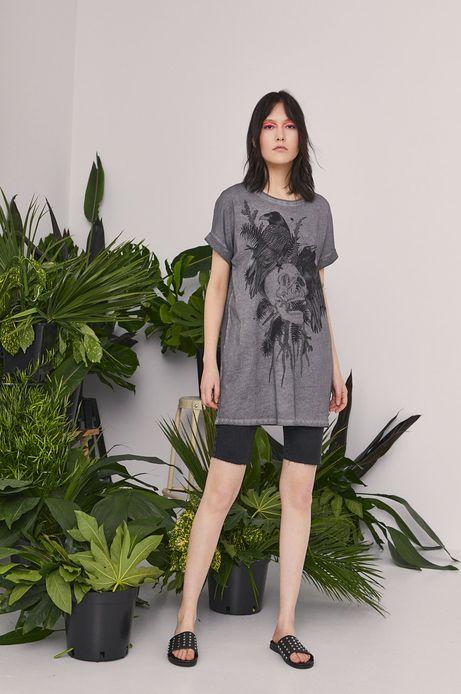 T-shirt damski by Magdalena Parfieniuk szary